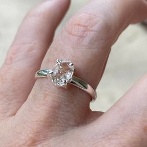 Sterling Silver Herkimer Diamond Ring Size 9